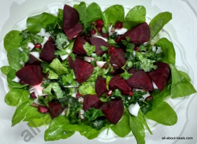 Nutty and Spicy - Spinach, Beetroot